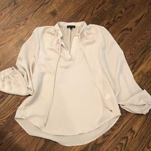 Spense ecru blouse with flowy sleeves